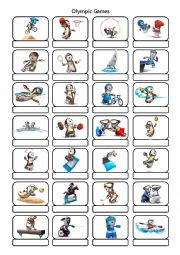 English Worksheet: Olympic sports pictionary KEY INCLUDED