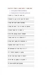 English Worksheet: Want to + verb/// Like, hate..+ verb-ing
