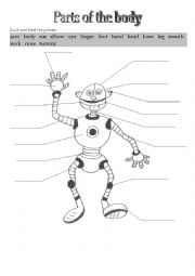 Home gt body worksheets gt robot parts of the body