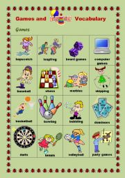 English Worksheet: Games and Toys Vocabulary #1
