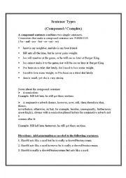 English Worksheet: Sentence Types