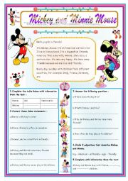 english worksheets mickey mouse. Black Bedroom Furniture Sets. Home Design Ideas