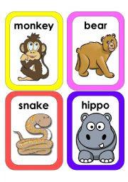 English Worksheet: Wild Animals Flash Cards #3