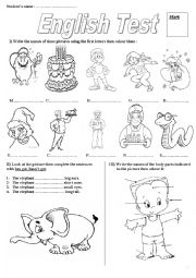 English Worksheet: Test C2