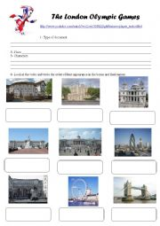 English Worksheet: The London Olympic Games (VIDEO)