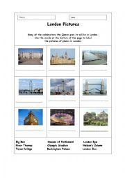English Worksheet: London Landmarks