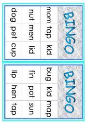 Cvc Words Bingo