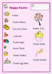 English Worksheet: Easter/Vocabulary