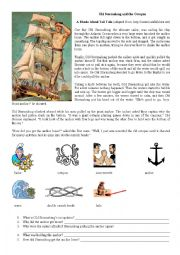 English Worksheet: Old Stormalong and the octopus
