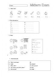 English Worksheet: Happy Street 1 Revision Units 1-6