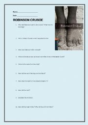 English Worksheet: Robinson Crusoe (Oxford bookworm) EXAM or WORKSHEET