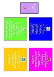English Worksheet: Headbandz Guessing Game