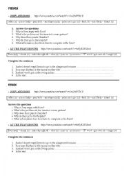 English Worksheet: FRIENDS 2 Episodes (with spelling correction)