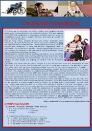 English Worksheet: Disabled Children