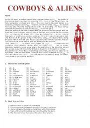 English Worksheet: Cowboys and Aliens