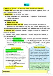 English Worksheet: Plural and collective nouns