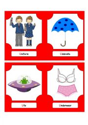 English Worksheet: Alphabet Words - U  (flash cards)
