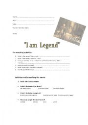 english worksheets i am legend. Black Bedroom Furniture Sets. Home Design Ideas