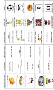 English Worksheet: Jeopardy