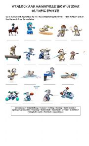 English Worksheet: London 2012 - Sports Vocabulary