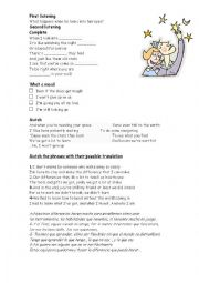 English Worksheet: I won´t give up