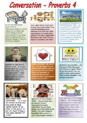 English Worksheet: conversation proverbs 4