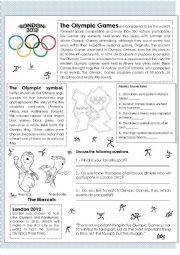 English Worksheet: Olympic Games, London 2012