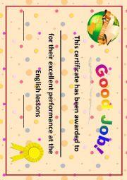 Certificate/Good Job