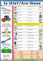 English Worksheets: This ,These
