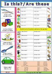 English Worksheet: This ,These