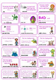 English Worksheet: Brain teasers, riddles & puzzles card game (set 1)