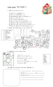 English Worksheets: movie: toy story 3