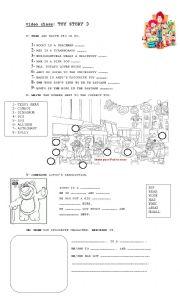 English Worksheet: movie: toy story 3