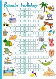 English Worksheet: Beach holiday