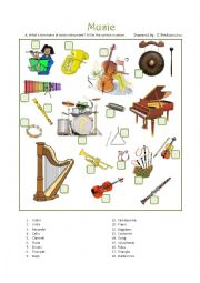 English Worksheet: Music to my ears 1