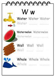 Alphabet Writing Worksheet W