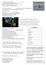English Worksheet: Whitney Houston and George Michael - If i told you that