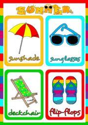 English Worksheet: Summer - flshcards (1)
