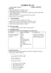 English Worksheets: talk about money