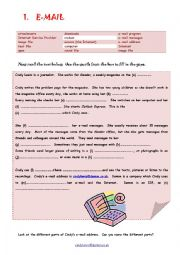 English Worksheet: EMAIL & INTERNET