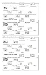 English Worksheets: Mark�s routine