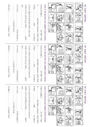 English Worksheets: Sam�s daily routine