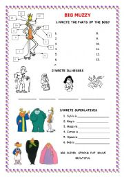 English Worksheet: Big Muzzy