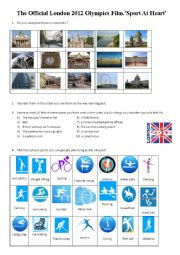 English Worksheet: The Official London 2012 Olympics Film