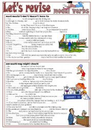 English Worksheet: Let´s revise Modal Verbs