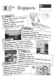 English Worksheet: ASEAN nations fact file - Singapore