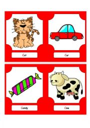 English Worksheet: Alphabet Words - C (flash cards)