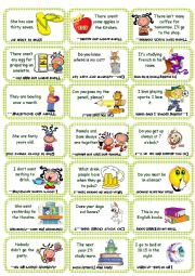 English Worksheet: Find the mistake game card set 2