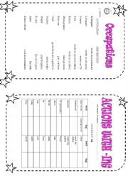 English Worksheets: occupations/ verbs with -ing