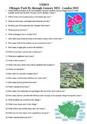 English Worksheet: VIDEOOlympic Park fly-through January 2012 - London 2012